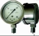 布莱迪普通膜盒微压表不锈钢膜盒微压表(外卡式)YEF-65 YE-90 YE-120